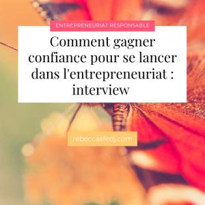 confiance et entrepreneuriat